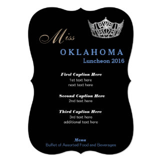 Pageant Luncheon Program Card