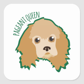 Pageant Queen Square Sticker