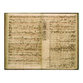 Pages from Score of the 'The Art of the Fugue' Postcard