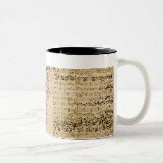 Pages from Score of the 'The Art of the Fugue' Two-Tone Coffee Mug