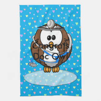 paging Doc Owl Kitchen Towel