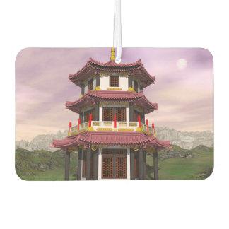 Pagoda - 3D render Car Air Freshener
