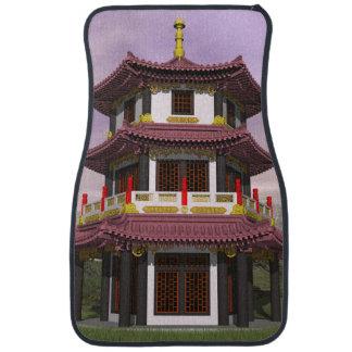 Pagoda - 3D render Car Mat