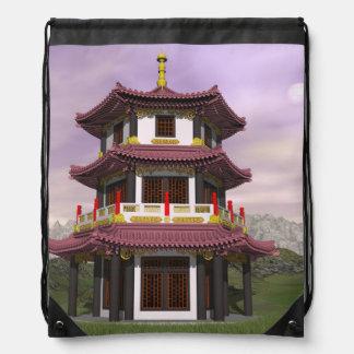 Pagoda - 3D render Drawstring Bag