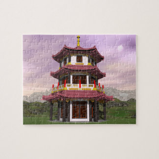 Pagoda - 3D render Jigsaw Puzzle