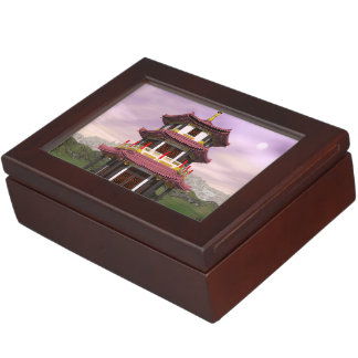 Pagoda - 3D render Keepsake Box