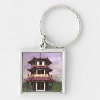 Pagoda - 3D render Keychain