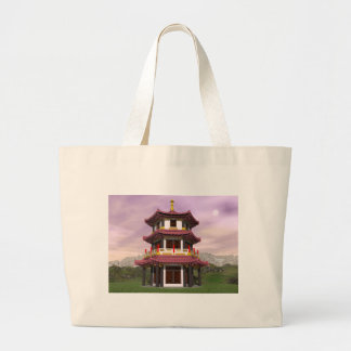 Pagoda - 3D render Large Tote Bag