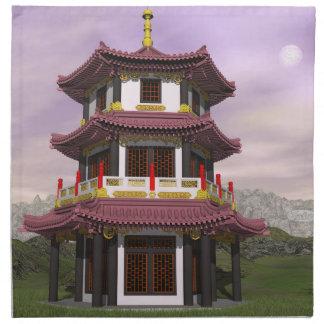 Pagoda - 3D render Napkin