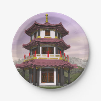 Pagoda - 3D render Paper Plate