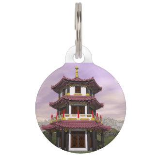 Pagoda - 3D render Pet Name Tag