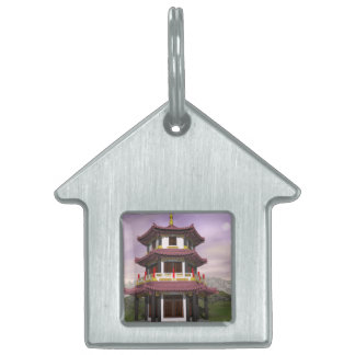 Pagoda - 3D render Pet Name Tag