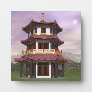 Pagoda - 3D render Plaque