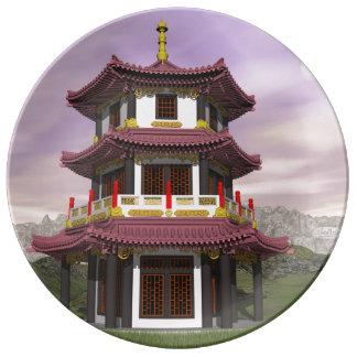 Pagoda - 3D render Plate