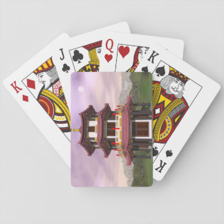Pagoda - 3D render Playing Cards