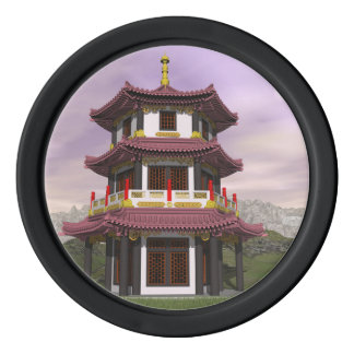 Pagoda - 3D render Poker Chips