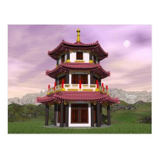 Pagoda - 3D render Postcard
