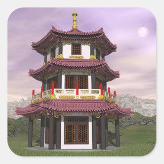 Pagoda - 3D render Square Sticker