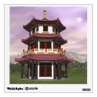 Pagoda - 3D render Wall Decal