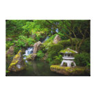 Pagoda and Pond in the Japanese Garden Canvas Print