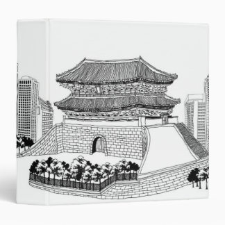 Pagoda and Trees Vinyl Binder