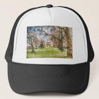 Pagoda Art Trucker Hat