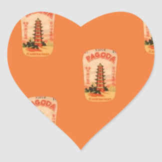 Pagoda Heart Sticker