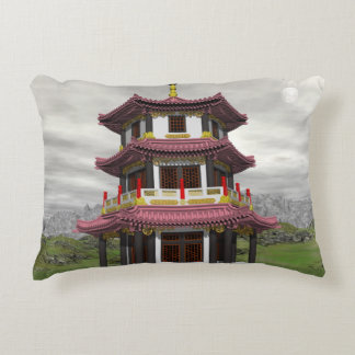 Pagoda in nature - 3D render Accent Pillow