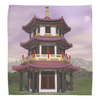 Pagoda in nature - 3D render Bandana