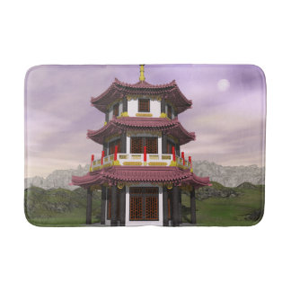 Pagoda in nature - 3D render Bath Mat