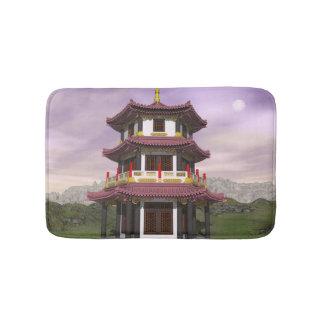 Pagoda in nature - 3D render Bath Mat