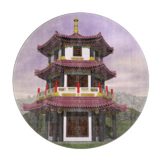 Pagoda in nature - 3D render Boards