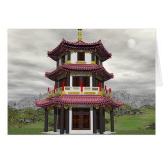 Pagoda in nature - 3D render Card