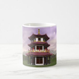 Pagoda in nature - 3D render Coffee Mug