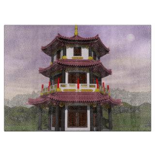 Pagoda in nature - 3D render Cutting Board