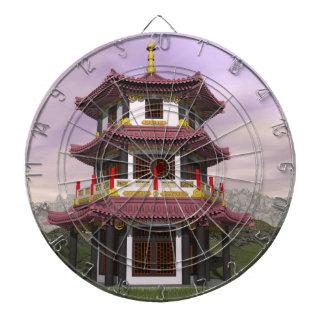 Pagoda in nature - 3D render Dartboard