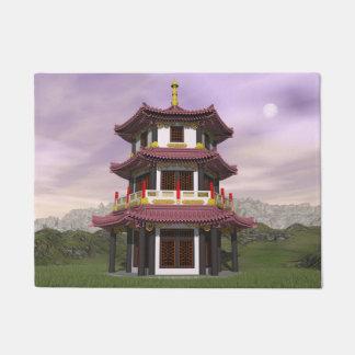 Pagoda in nature - 3D render Doormat