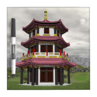 Pagoda in nature - 3D render Dry Erase Board