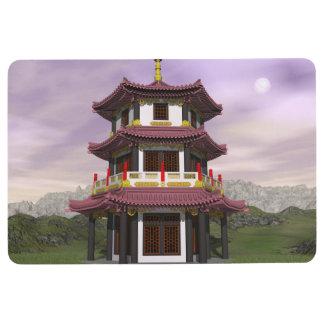 Pagoda in nature - 3D render Floor Mat