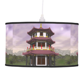Pagoda in nature - 3D render Hanging Pendant Lamps
