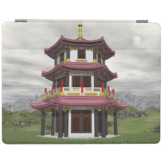 Pagoda in nature - 3D render iPad Cover