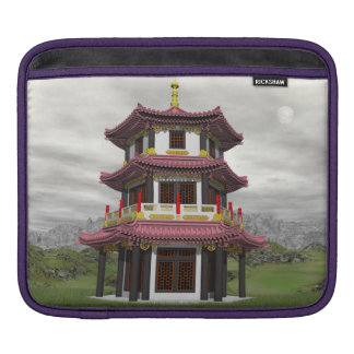 Pagoda in nature - 3D render iPad Sleeve