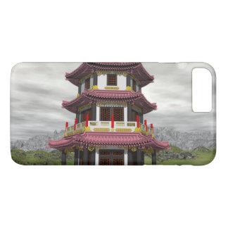 Pagoda in nature - 3D render iPhone 8 Plus/7 Plus Case