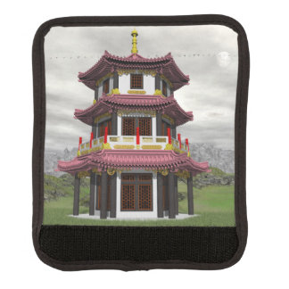 Pagoda in nature - 3D render Luggage Handle Wrap