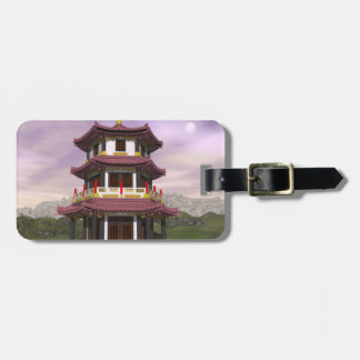 Pagoda in nature - 3D render Luggage Tag