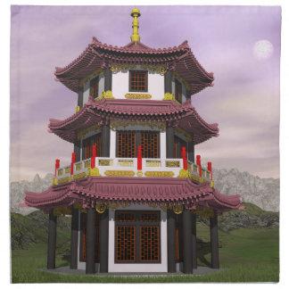 Pagoda in nature - 3D render Napkin