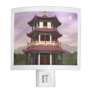 Pagoda in nature - 3D render Nite Light