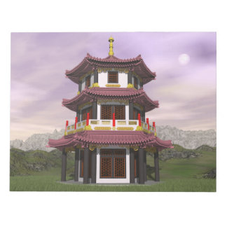 Pagoda in nature - 3D render Notepad