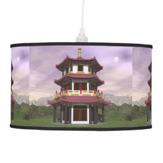 Pagoda in nature - 3D render Pendant Lamps