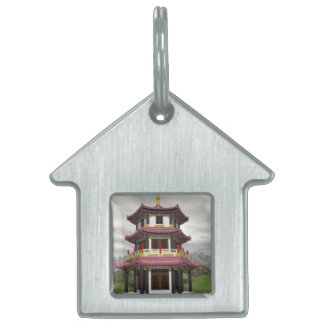 Pagoda in nature - 3D render Pet ID Tag